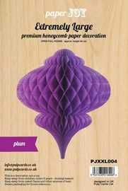 Paper Honeycomb Hanging Bauble - Plum (Extremely Large)