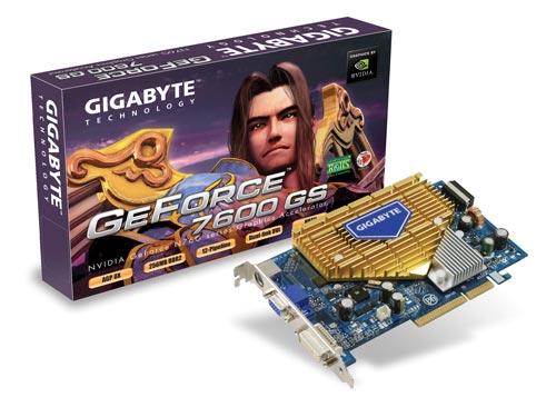 GIGABYTE GeForce 7600GS 256MB GDDR2 Graphics Card  image