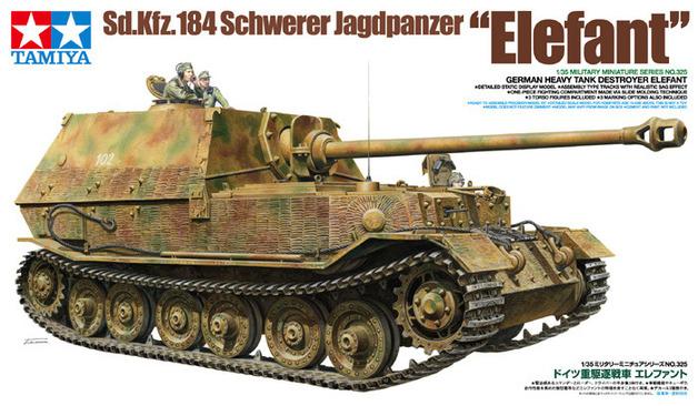 "Tamiya German Sd.Kfz.184 Schwerer Jagdpanzer ""Elefant"" 1/35 Model Kit"