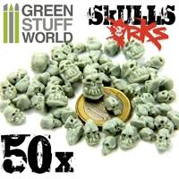 Green Stuff World: Resin ORK Skulls Set