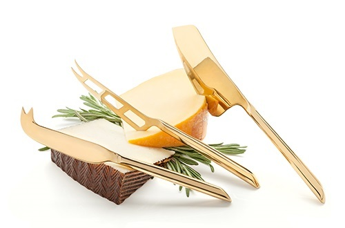Viski: Belmont - Gold Plated Knife Set