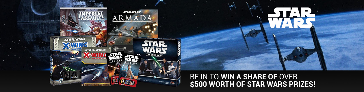 Be in to win a share of over $500 of Star Wars prizes!