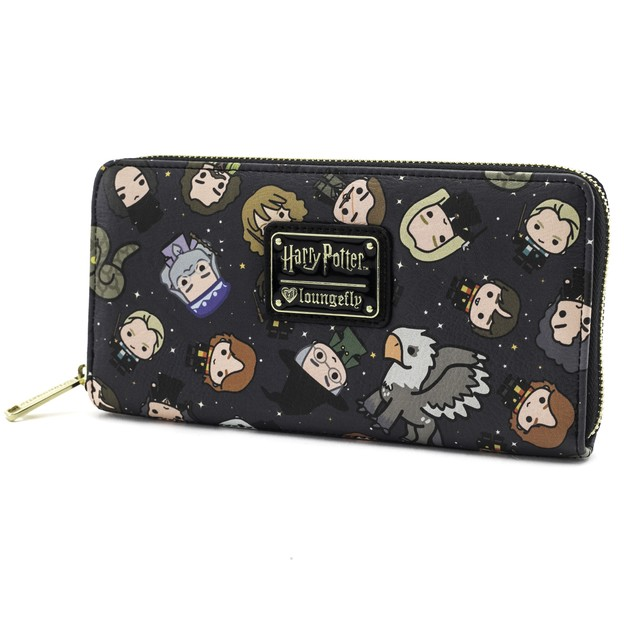 Loungefly: Harry Potter - Chibi Print Zip-Around Wallet