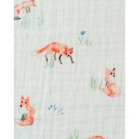 Little Unicorn - Single Cotton Muslin Swaddle - Fox image