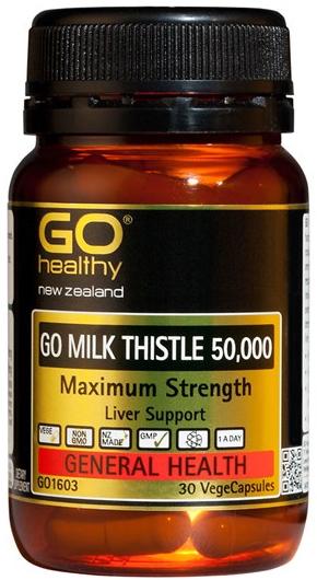 Go Healthy: GO Milk Thistle 50000 (30 Capsules)