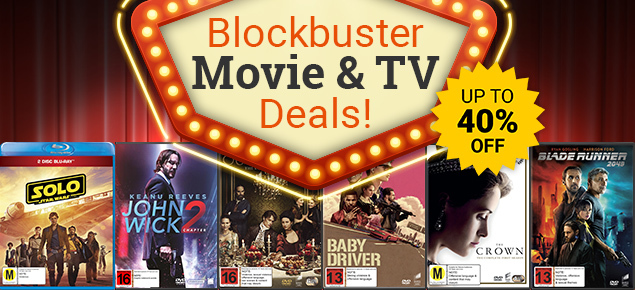 Up to 40% off of DVDs & Blu-ray!