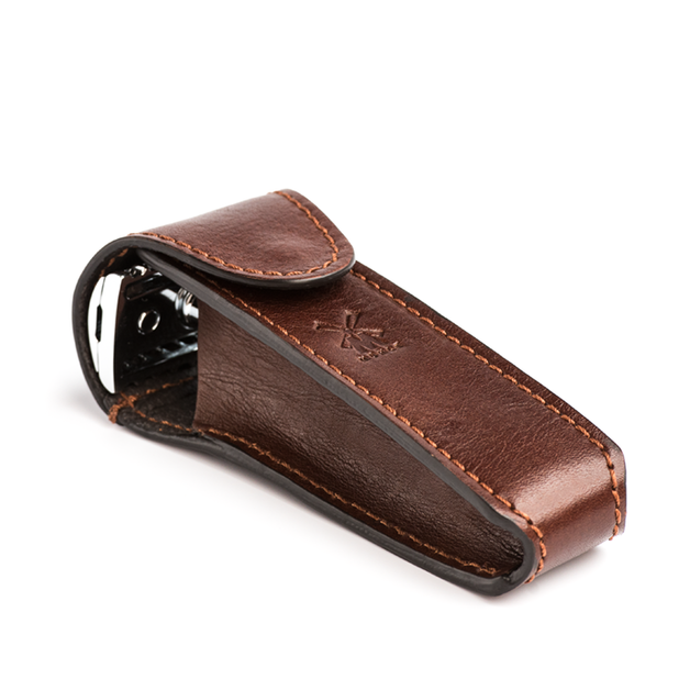 Muhle: Safety Razor Travel Case - Brown Leather (RT7)