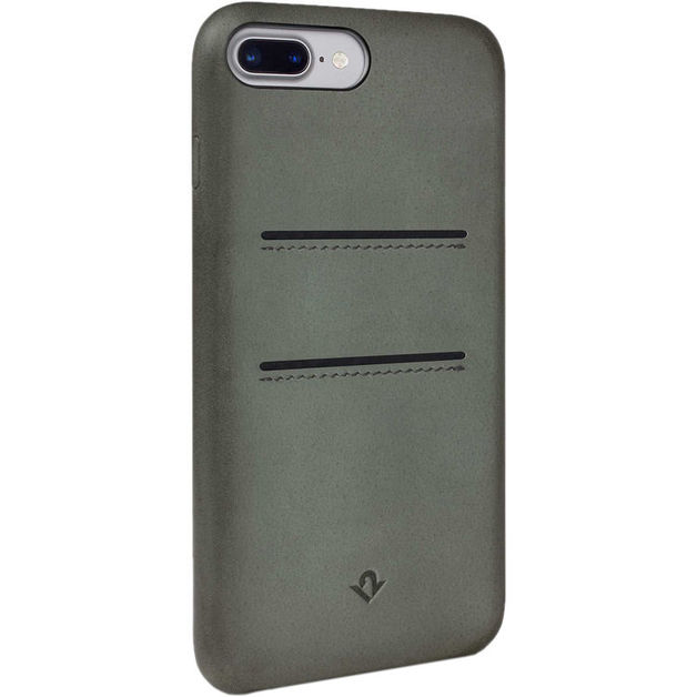 Twelve South Relaxed Leather case w/pockets for iPhone 7 Plus (Dried Herb)