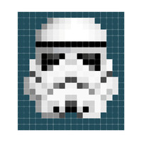Ixxi: Star Wars Stormtrooper Pixel Wall Art - 180cm X 200cm