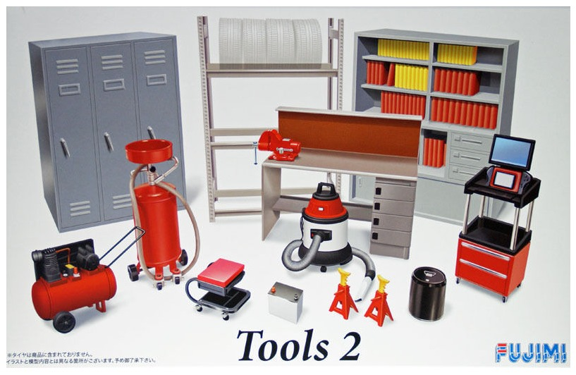 Fujimi: 1/24 Garage & Tools - #2 - Model Kit image