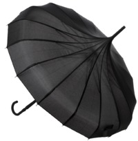 Sourpuss: Sourpuss Pagoda Umbrella (Black)