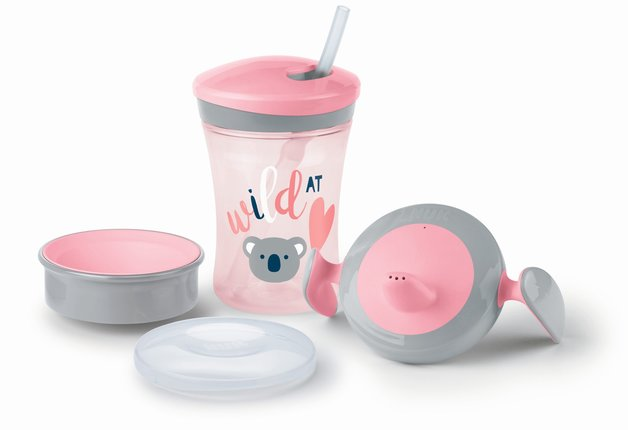 NUK: Evolution Cup Learn to Drink Set - Pink