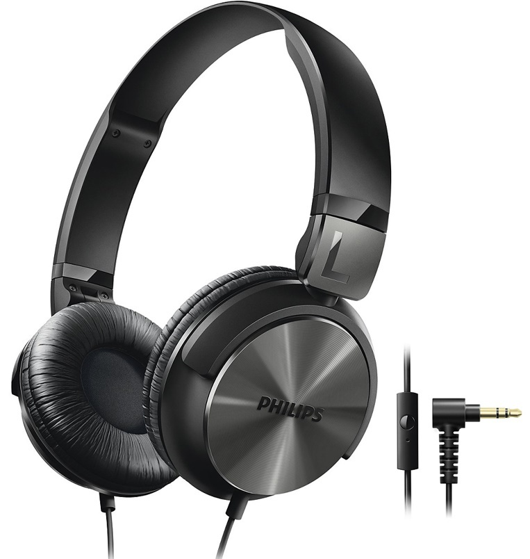 philips dj style on ear headphones with mic black at mighty ape australia. Black Bedroom Furniture Sets. Home Design Ideas