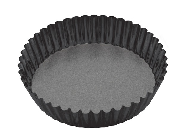 MasterClass: Non-Stick Round Loose Base Fluted Deep Flan/Quiche Pan (25cm)