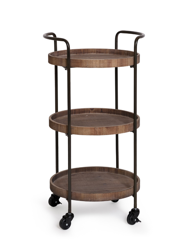 Hendrick 3 Tier Trolley Bar (41x40x80cm)