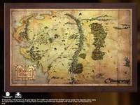 The Hobbit Map of Middle Earth (Mounted on Wood)