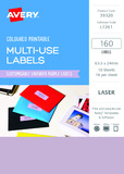 Avery L7261 Multi-Use Labels - Lavender (10 Sheets/160 Labels)