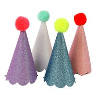 Pom Pom Party Hats