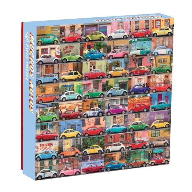 Galison: 500 Piece Puzzle - Muchos Autos