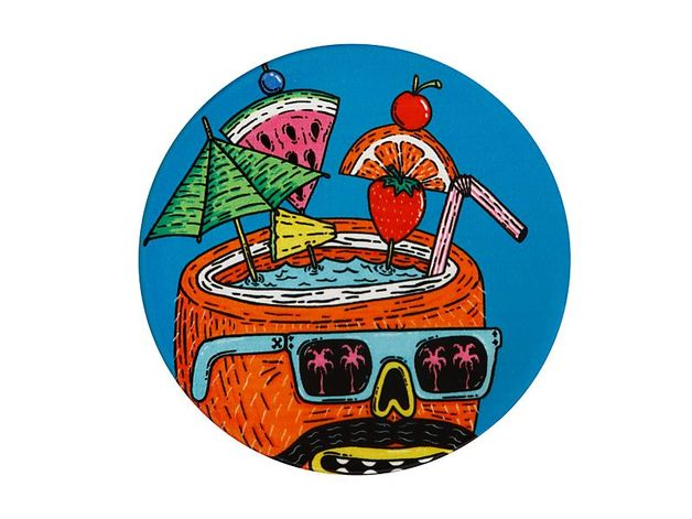 Maxwell & Williams: Mulga the Artist Ceramic Round Coaster - Coconut