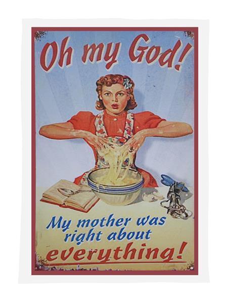 'Oh My God' Tea Towel