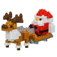 nanoblock: Holiday Series - Santa Claus with Reindeer