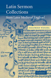 Latin Sermon Collections from Later Medieval England by Siegfried Wenzel image