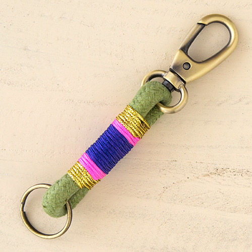 Natural Life: Rope Key Fob - Olive, Gold, Purple