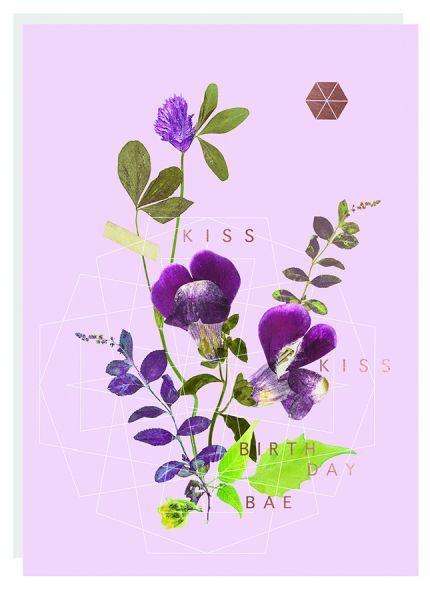 Fireweed: Kiss Kiss Foil Love Greeting Card
