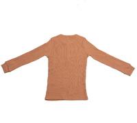 Cheeky Chimp: Long Sleeved Rib Top - Tan (Size 8)
