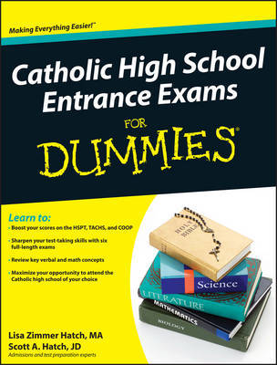 Catholic High School Entrance Exams For Dummies by Lisa Zimmer Hatch image
