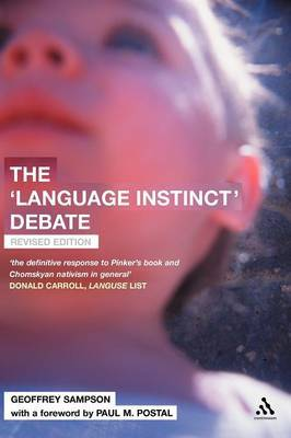 The Language Instinct Debate by Geoffrey Sampson image