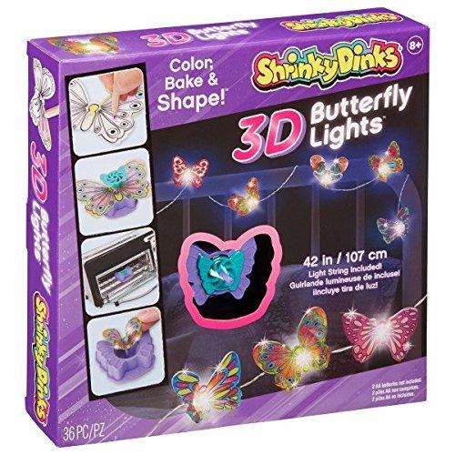 Alex: Shrinky Dinks - 3D Butterfly Lights