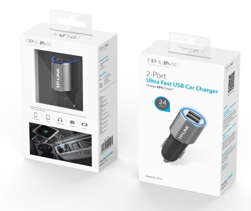 TP-Link CP220 24W 2-Port USB Car Charger image