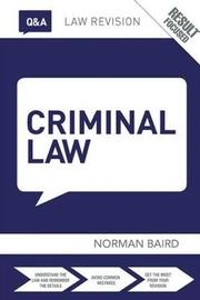 Q&A Criminal Law by Norman Baird image
