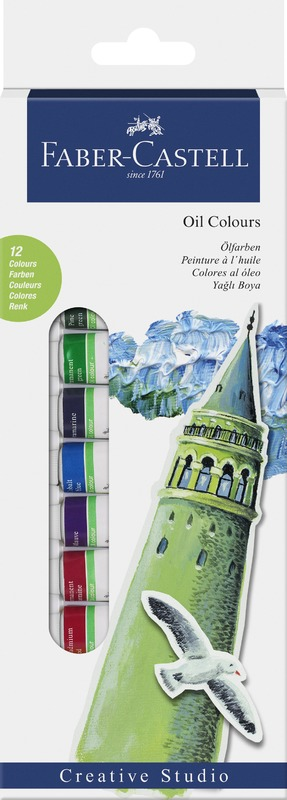 Faber-Castell: Starter Set Oil Colours Box (12 Pcs)