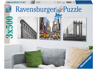 Ravensburger 3x500 Piece Jigsaw Puzzle - New York Impressions