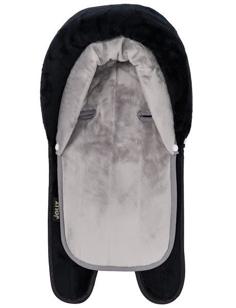 Jolly Jumper 2 in 1 Terry Head Hugger - Black/Grey