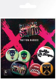 Suicide Squad: Lil Monster - Pin Badge Set image