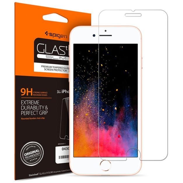 Spigen iPhone 8 Plus /7 Plus Premium Tempered Glass Screen Protector Extreme Durability