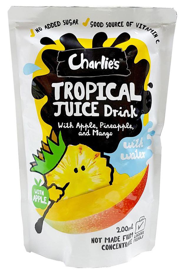 Charlie's Kid's Juices Tropical 200ml (10 Pack) image
