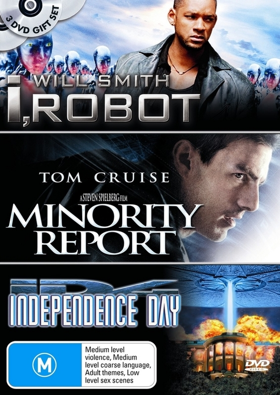 I, Robot / Minority Report / Independence Day (3 Disc Set) on DVD
