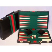 "Backgammon 15"" Vinyl Case - Black"