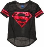 DC Comics - Superman Mesh V-Neck T-Shirt (Medium)