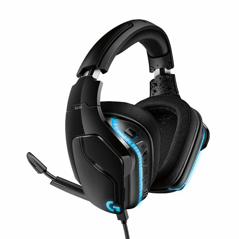 Logitech G635 7.1 Surround Sound Lightsync Gaming Headset for PC image