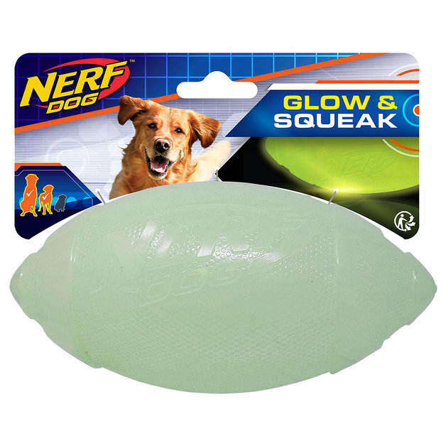 Nerf Dog Glow & Squeak Classic Football
