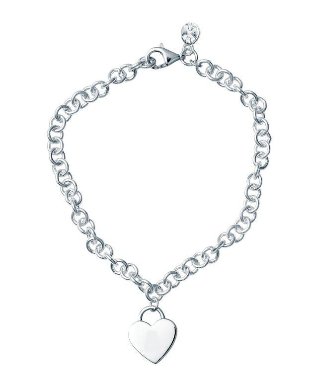 Bo + Bala: Heart Padlock Charm Bracelet - Plain