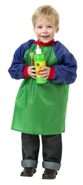 EC Colours - Toddlers Smock - Green and Blue