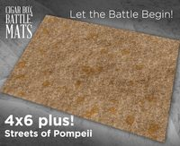 Cigar Box Mat: Streets of Pompeii Cloth Mat (6×4 Plus)
