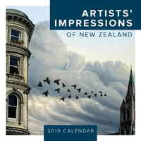 Artists' Impressions of New Zealand 2019 Square Wall Calendar